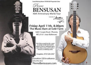 Pierre Bensusan Concert Tonight