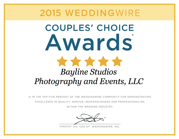 Bayline Studios Wins 3rd Consecutive Couples Choice Award™®!